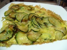 Zucchini Omelett mit Parmesan